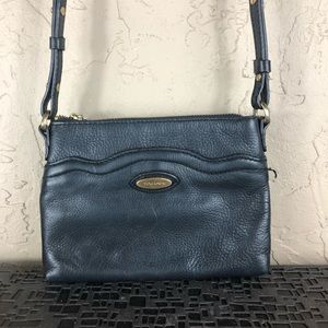 Tahari leather crossbody purse bag